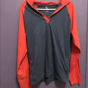 GAP Men's Color Block Hoodie Tee Med